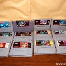 Videojuegos y Consolas: LOTE 12 JUEGOS SUPER NINTENDO SNES. Lote 246352995