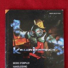 Videojogos e Consolas: INSTRUCCIONES DEL JUEGO KILLER INSTINCT DE SUPER NINTENDO. Lote 247133485