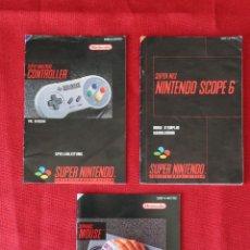 Videojuegos y Consolas: 3 INSTRUCCIONES DE SCOPE 6, MOUSE Y CONTROLLER DE SUPER NINTENDO. Lote 247136535