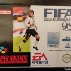 Videojuegos y Consolas: FIFA 98 SUPER NINTENDO COMPLETO. Lote 251452930