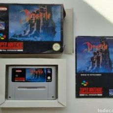 Videojuegos y Consolas: DRACULA COMPLETO SUPER NINTENDO SNES. Lote 252495220