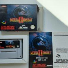 Videojuegos y Consolas: MORTAL KOMBAT II 2 COMPLETO SUPER NINTENDO SNES. Lote 252497775
