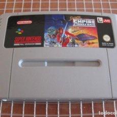 Videojogos e Consolas: SNES SUPER STARWARS EL IMPERIO CONTRATACA PAL ESPAÑA CARTUCHO SUPER NINTENDO. Lote 253524455