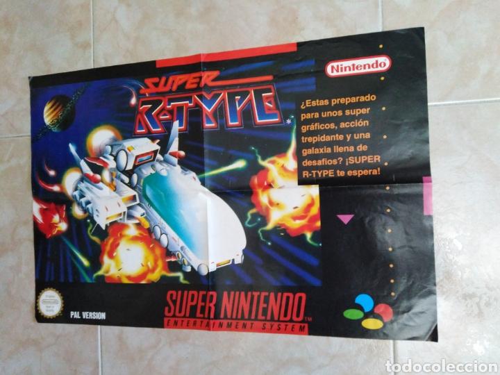 PÓSTER SÚPER NINTENDO, SÚPER R-TYPE AÑOS 90 ( 60X40 ) (Juguetes - Videojuegos y Consolas - Nintendo - SuperNintendo)