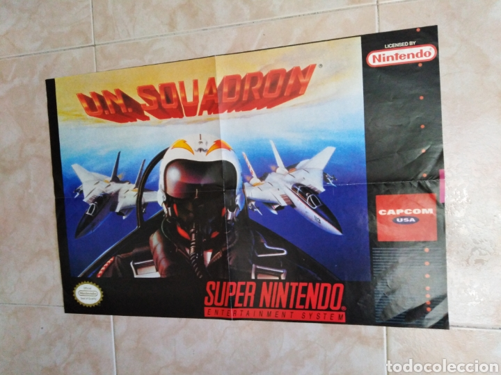 PÓSTER U.N. SOUADRON, SÚPER NINTENDO ( 60X40 ) (Juguetes - Videojuegos y Consolas - Nintendo - SuperNintendo)
