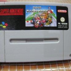 Videojuegos y Consolas: SNES SUPER MARIO KART PAL ESPAÑA SOLO CARTUCHO SUPER NINTENDO. Lote 254444355