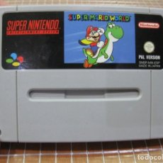 Videojuegos y Consolas: SNES SUPER MARIO WORLD PAL ESPAÑA SOLO CARTUCHO SUPER NINTENDO. Lote 254444500