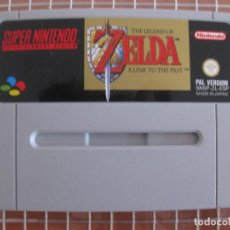 Videojuegos y Consolas: SNES THE LEGEND OF ZELDA A LINK TO THE PAST PAL ESPAÑA SUPER NINTENDO CARTUCHO. Lote 256039065