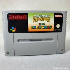 Videojuegos y Consolas: VIDEOJUEGO SUPER NINTENDO - SNES - SUPER MARIO ALL STARS - SUPER MARIO WORLD - EUR. Lote 257284605