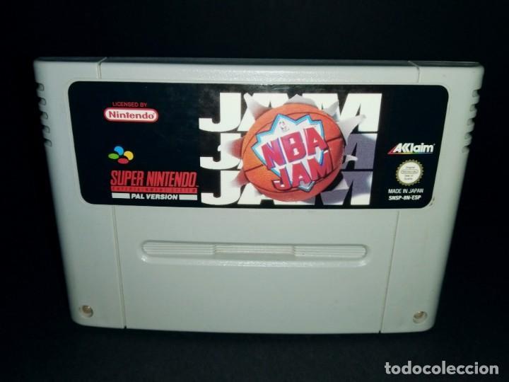 JUEGO CARTUCHO SUPER NINTENDO SNES - NBA JAM PAL ESP ESPAÑA - MUY BUEN ESTADO - FUNCIONANDO (Juguetes - Videojuegos y Consolas - Nintendo - SuperNintendo)