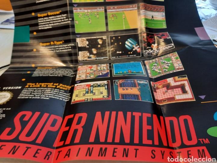POSTER MANUAL DE INSTALACION SUPERNINTENDO. DOBLE CARA (Juguetes - Videojuegos y Consolas - Nintendo - SuperNintendo)
