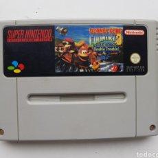 Videojogos e Consolas: DONKEY KONG COUNTRY 3 CARTUCHO SUPER NINTENDO SNES. Lote 260278345