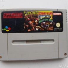 Videojogos e Consolas: DONKEY KONG COUNTRY 2 CARTUCHO SUPER NINTENDO SNES. Lote 260278425