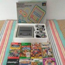 Videojuegos y Consolas: VIDEOCONSOLA SUPER NINTENDO VERSIÓN JAPONESA (SUPER FAMICOM) CON JUEGOS. Lote 214014458