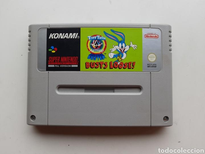 TINY TOON BUSTER BUSTS LOOSE CARTUCHO SUPER NINTENDO SNES (Juguetes - Videojuegos y Consolas - Nintendo - SuperNintendo)