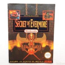 Videojuegos y Consolas: MANUAL GUIA SECRET OF EVERMORE SUPER NINTENDO SNES. Lote 261822550