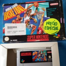 Videojuegos y Consolas: WORLD LEAGUE BASKETBALL SUPER NINTENDO, SOLO CAJA Y CARTUCHO.. Lote 262256275