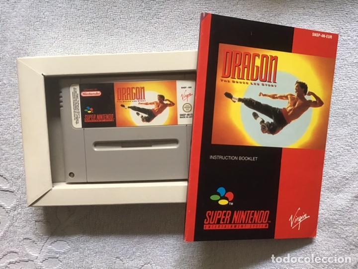Videojuegos y Consolas: Dragon. The Bruce Lee Story. Super Nintendo. Virgin. Original. Completo. - Foto 2 - 266293438