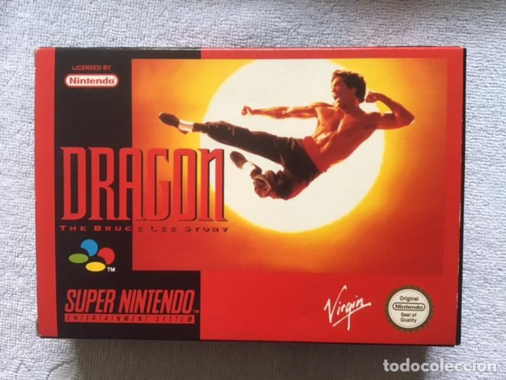 Videojuegos y Consolas: Dragon. The Bruce Lee Story. Super Nintendo. Virgin. Original. Completo. - Foto 4 - 266293438