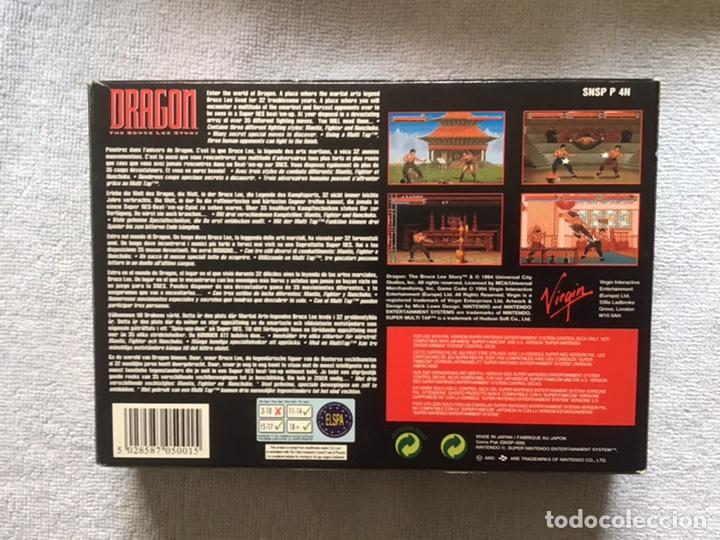 Videojuegos y Consolas: Dragon. The Bruce Lee Story. Super Nintendo. Virgin. Original. Completo. - Foto 5 - 266293438