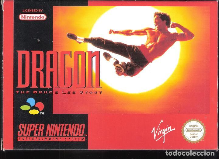 DRAGON. THE BRUCE LEE STORY. SUPER NINTENDO. VIRGIN. ORIGINAL. COMPLETO. (Juguetes - Videojuegos y Consolas - Nintendo - SuperNintendo)