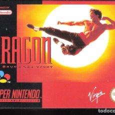 Videojuegos y Consolas: DRAGON. THE BRUCE LEE STORY. SUPER NINTENDO. VIRGIN. ORIGINAL. COMPLETO.. Lote 266293438