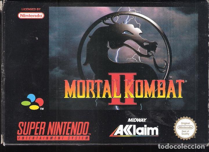 MORTAL KOMBAT II. SUPER NINTENDO. MIDWAY ACCLAIM. ORIGINAL. CAJA Y JUEGO NO MANUAL: (Juguetes - Videojuegos y Consolas - Nintendo - SuperNintendo)