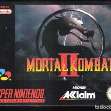 Videojuegos y Consolas: MORTAL KOMBAT II. SUPER NINTENDO. MIDWAY ACCLAIM. ORIGINAL. CAJA Y JUEGO NO MANUAL:. Lote 266293973