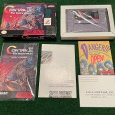 Videojuegos y Consolas: CONTRA III THE ALIEN WARS - SUPER NINTENDO - NTSC COMPLETO (SUPER PROBOTECTOR) - KONAMI - 1992. Lote 277534903