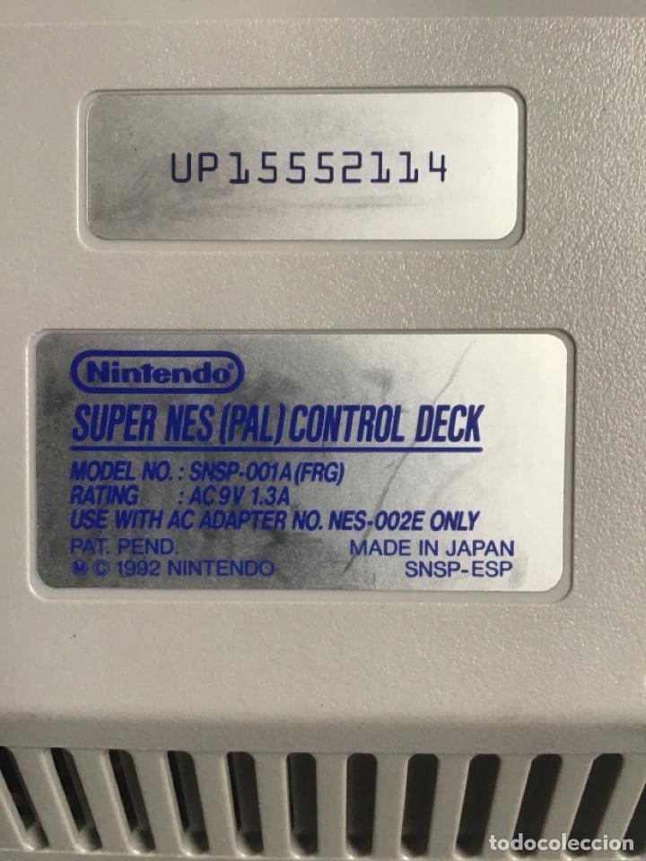 Videojuegos y Consolas: Nintendo. Súper Nes (PAL) Control Deck. Consola. 1992. Made in Japan. + mando. SuperNintendo. - Foto 4 - 266552493