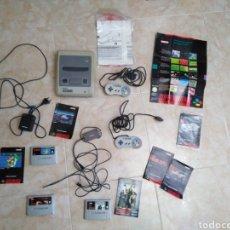 Videojuegos y Consolas: MÁQUINA NINTENDO SUPER NINTENDO + 3 JUEGOS ( LEER DESCRIPCIÓN ). Lote 268851509
