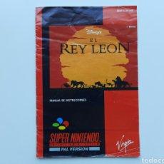 Videojuegos y Consolas: MANUAL EL REY LEON SUPER NINTENDO SNES. Lote 268944309
