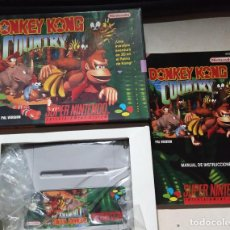 Videojuegos y Consolas: DONKEY KONG COUNTRY SUPER NINTENDO PAL ESPAÑA 1994. Lote 269307368