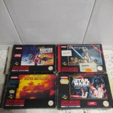Videojuegos y Consolas: SUPER NINTENDO JUEGOS STAR WARS Y BATTLETANK. Lote 269366708