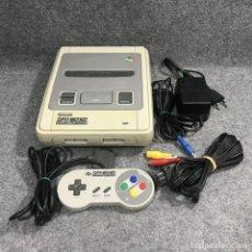 Videojuegos y Consolas: CONSOLA SUPER NINTENDO+MANDO+AV+AC. Lote 269685613