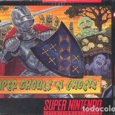 Videojuegos y Consolas: JUEGO SNES CAJA Y JUEGO SUPER GHOULS N GHOSTS. Lote 269755968