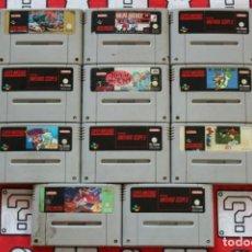 Jeux Vidéo et Consoles: LIQUIDACION LOTE 11 CARTUCHOS SUPER NINTENDO SNES EN MAL ESTADO. Lote 270246133