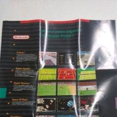 Videojuegos y Consolas: POSTER DE VIDEOJUEGOS DE SUPER NINTENDO AÑO 1982. Lote 273291758