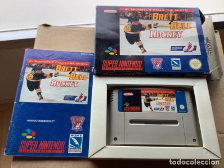 BRETT HULL HOCKEY EN CAJA ORIGINAL 100% SÚPER NINTENDO SNES (Juguetes - Videojuegos y Consolas - Nintendo - SuperNintendo)