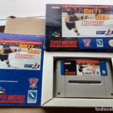 Videojuegos y Consolas: BRETT HULL HOCKEY EN CAJA ORIGINAL 100% SÚPER NINTENDO SNES. Lote 274905018