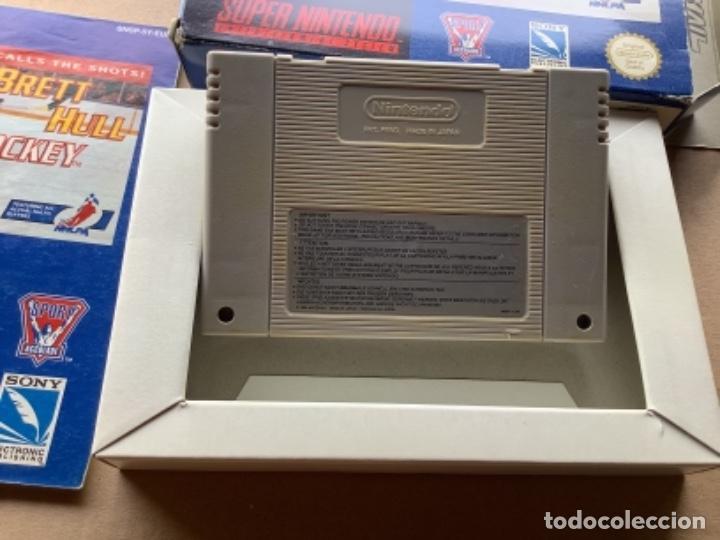 Videojuegos y Consolas: BRETT HULL HOCKEY EN CAJA ORIGINAL 100% SÚPER NINTENDO SNES - Foto 3 - 274905018