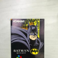 Videogiochi e Consoli: SUPERNINTENDO SNES MANUAL INSTRUCCIONES BATMAN RETURNS PERFECTO ESTADO IMPECABLE. Lote 275068133