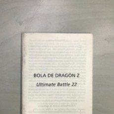 Videogiochi e Consoli: SUPERNINTENDO SNES MANUAL INSTRUCCIONES DRAGON BALL Z ULTIMATE BATTLE 22. Lote 275071373