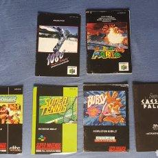 Videojuegos y Consolas: PACK MANUALES SNES Y N64. Lote 244454425