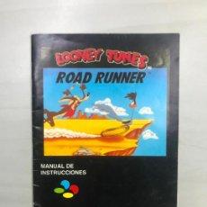Videogiochi e Consoli: SUPERNINTENDO SNES MANUAL INSTRUCCIONES LOONEY TUNES ROAD RUNNER. Lote 275867848