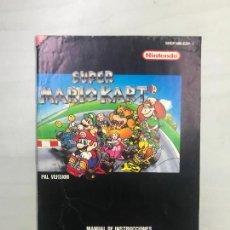 Videogiochi e Consoli: SUPERNINTENDO SNES MANUAL INSTRUCCIONES SUPER MARIO KART. Lote 275869613