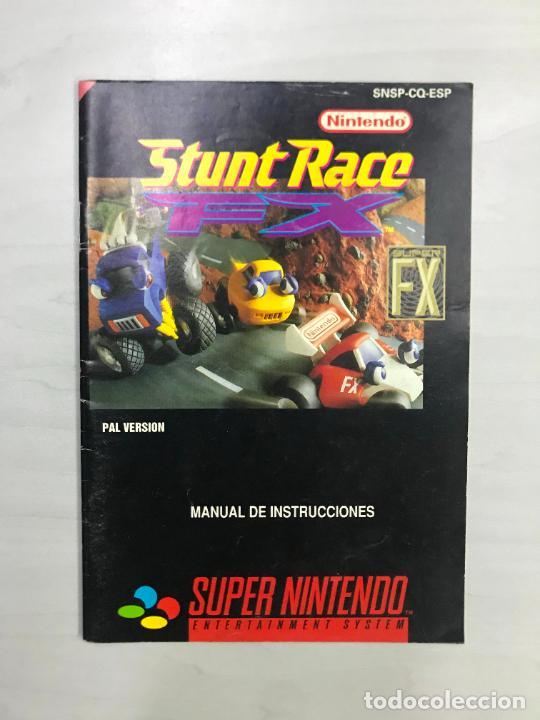SUPERNINTENDO SNES MANUAL INSTRUCCIONES STUNT RACE FX (Juguetes - Videojuegos y Consolas - Nintendo - SuperNintendo)
