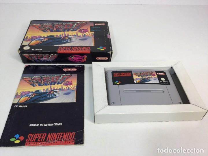SUPER NINTENDO F-ZERO CON SU CAJA ORIGINAL (Juguetes - Videojuegos y Consolas - Nintendo - SuperNintendo)