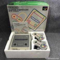 Videojuegos y Consolas: CONSOLA NINTENDO SUPER FAMICOM JAP CON CAJA. Lote 277234143