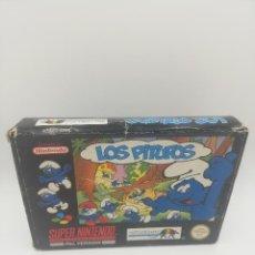 Videojuegos y Consolas: LOS PITUFOS SUPER NINTENDO PAL VERSION COMPLETO. Lote 277447813
